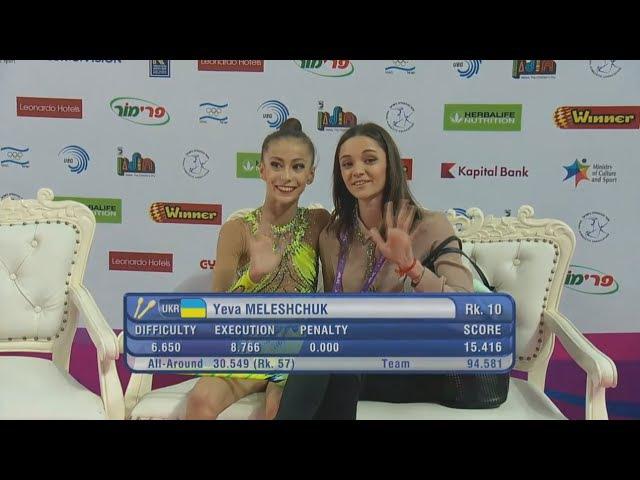 Yeva Meleshchuk Clubs Qual - European Championships Holon 2016