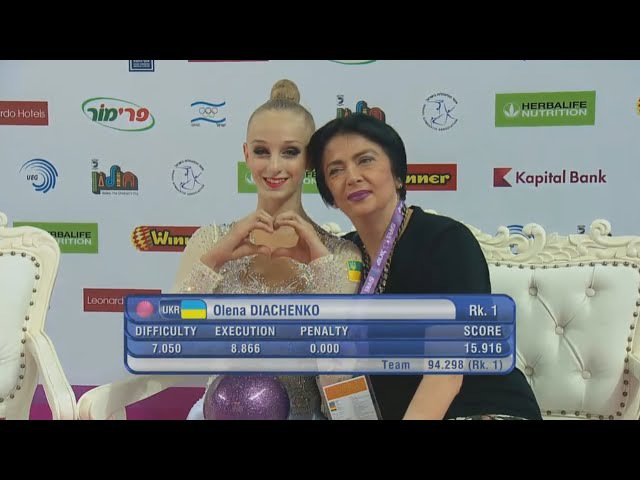 Olena Diachenko Ball Qual - European Championships Holon 2016