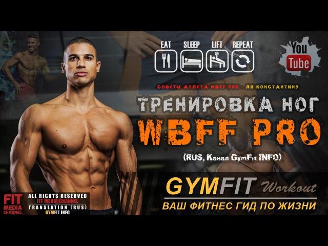 ТРЕНИРОВКА НОГ от WBFF Pro - ЛИ КОНСТАНТИНУ (Тренировка квадрицепсов) | RUS, Канал GymFit INFO