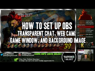 How To Set Up OBS: Transparent Chat, Web Cam, Background Image, Game Capture