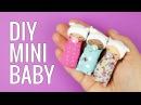DIY miniature Baby   DIY Miniature doll baby pacifier   DIY Miniature doll baby Crib 미니어쳐 아기