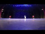 Девочка на сцене танцевала (Праздник). Отчетный концерт февраль 2016