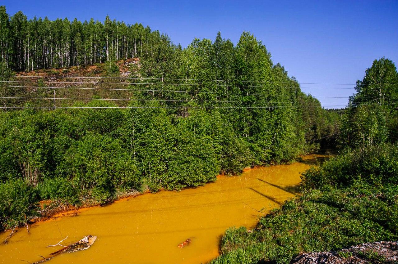 Оранжевая река Кизел