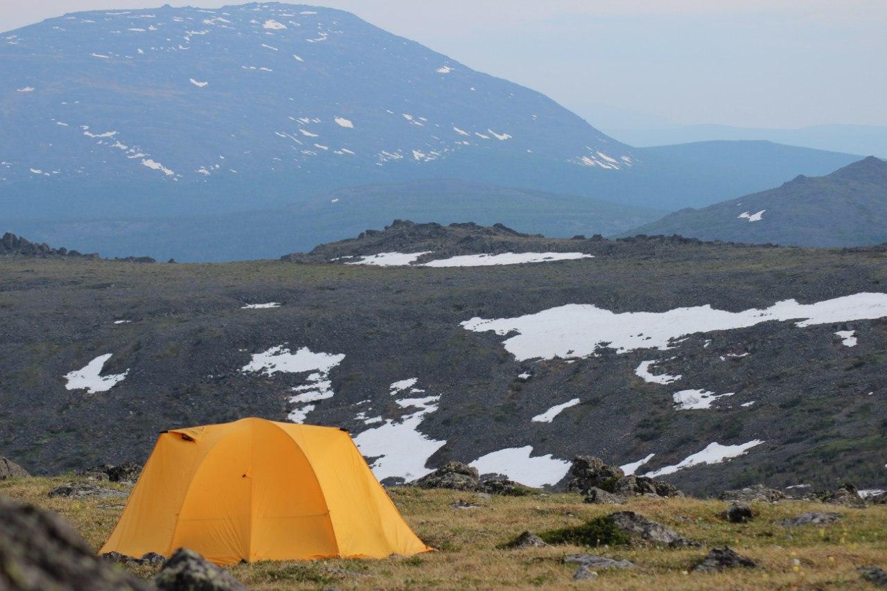 Палатка на Конжаке