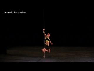 Лилия Чиченева Artisric Pole (начинающие) - 2-й турнир студии Pole Dance Style.