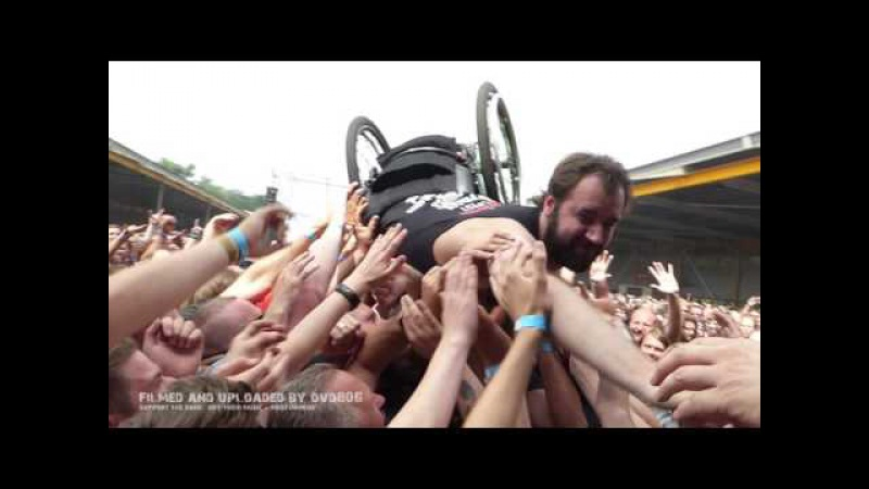 Obituary - BloodsoakedWheelchair Crowdsurfer2 @ Dynamo Metal Fest Eindhoven (NL) 2016-July-16