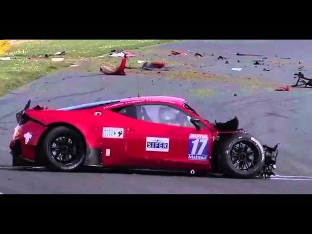 17 Ferrari 458 Horrible Outing - GT Tour 2016 - Nogaro (Crash/Missed Pitlane)