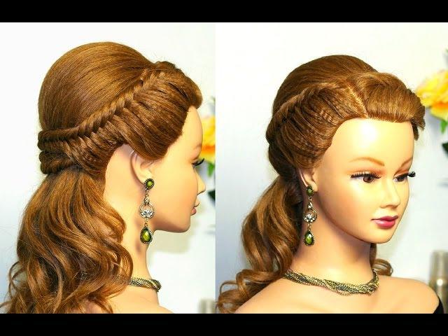 Прическа с плетением на длинные волосы на каждый день