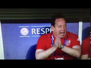 Слуцкии материться во время матча со словакией евро 2016