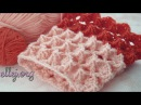 ♥ Узор Зефирка крючком по кругу • МК круговое вязание • Marshmallow crochet scarflette tutorial