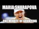 Maria Sharapova. One Minute of Grunting (2000-2016)