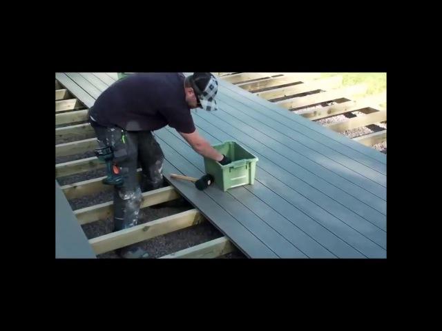 Монтаж и укладка террасной доски из ДПК Строительство террасы своими руками смотреть онлайн без регистрации