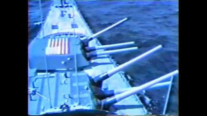 Взрыв башни американского линкора USS Iowa