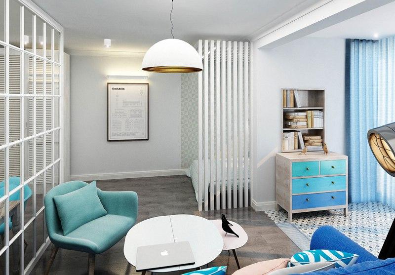 Концепт квартиры  47 м с присоединенной лоджией.