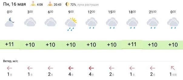 Прогноз погоды в Дмитрове на 16 мая