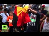 Greece_ Refugee Children burn German flag, stage absurd _Death of EU Humanity_ PR Event - YouTube [720p]