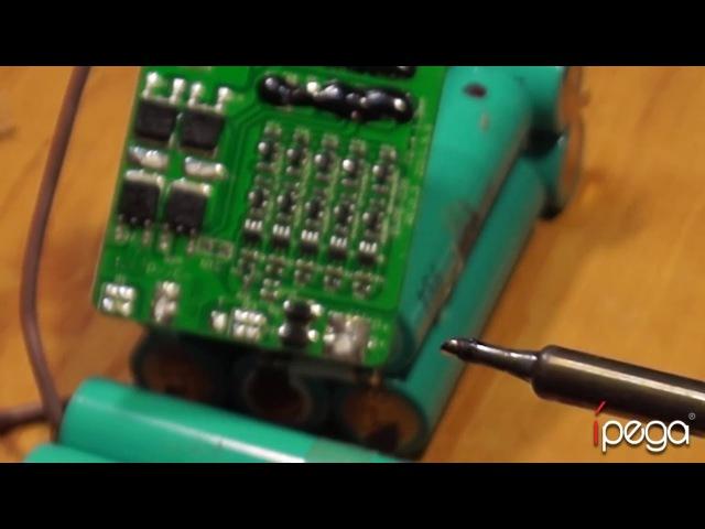 Переделка Ni-Cd аккумулятора шуруповерта на Li-ion. НЕВЕРОЯТНАЯ ЕМКОСТЬ 4400mAh!