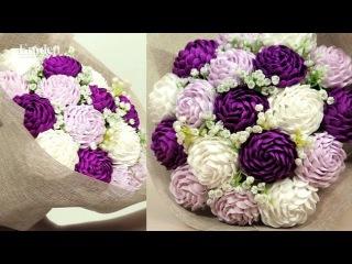 Hướng dẫn làm hoa bằng giấy nhún đơn giản|Emdep TV