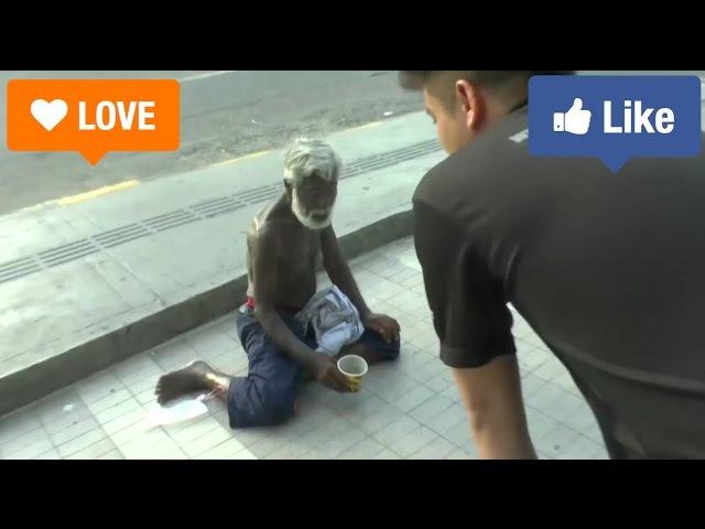 Бездомному дали $500, Помыли, Накормили, Купили Одежды, Сняли Гостиницу,