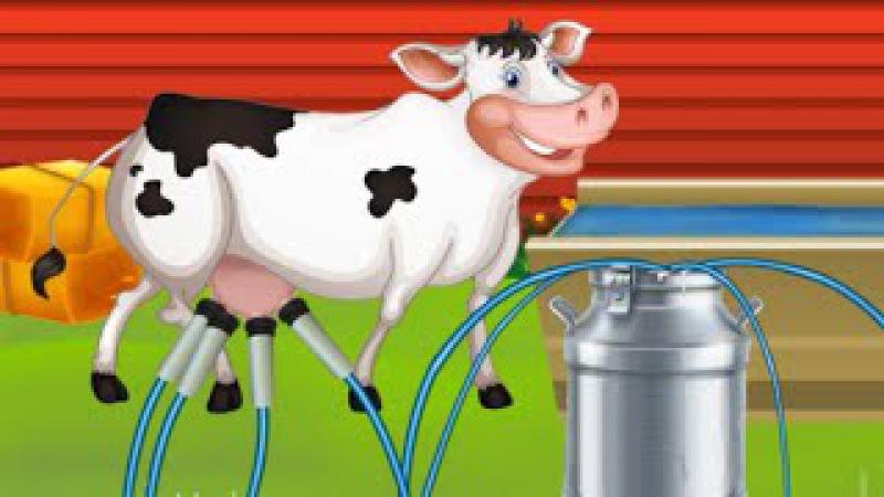 Мультики про корову для детей Мультфильмы про коровку Завод молока Молочный завод Развиваша ТВ