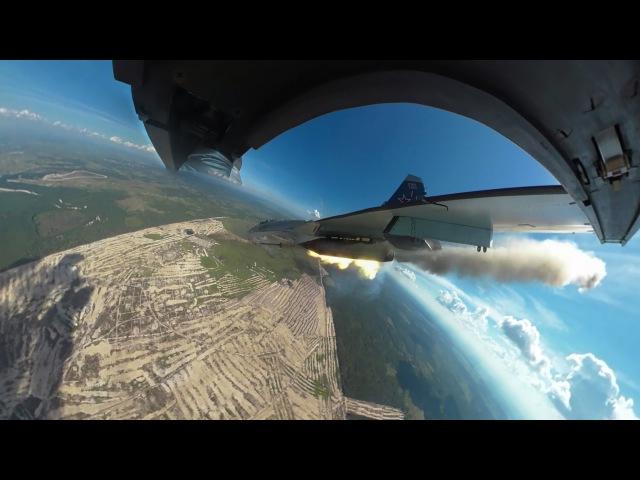 Видео 360: Полет в кабине Су-30 на конкурсе «Авиадартс-2016»