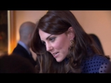 Kate dazzles in blue at reception for India and Bhutan trip