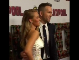 Блейк Лайвли и Райан Рейнольдс на премьере фильма «Дэдпул» в Нью-Йорке (08.02.16)