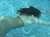 ▶ wetlook-girl swims fully clothed wearing sweater and skirt - YouTube [360p]