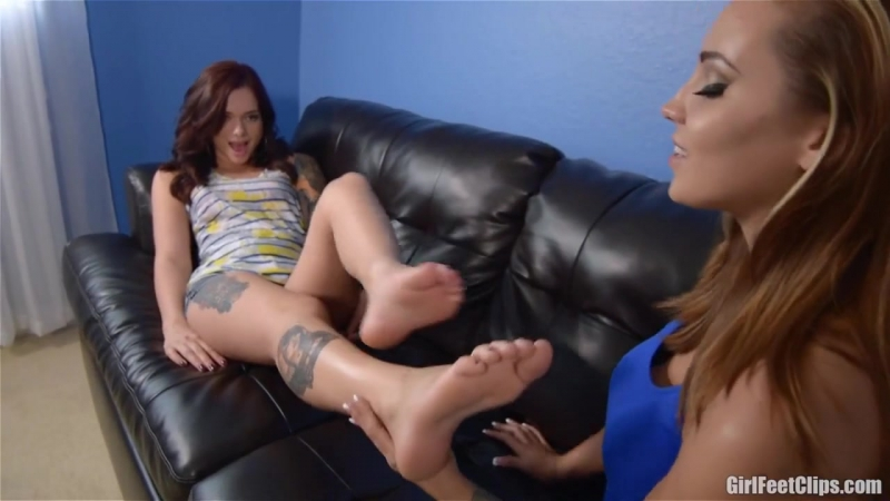 Sasha Foxx worships and licks Maria Marleys size 9.5 feet. BW