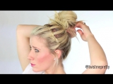 How to- Waterfall Messy Bun