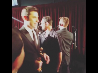 """The Academy on Instagram: """"Our first winners of the night backstage Oscars"""""""