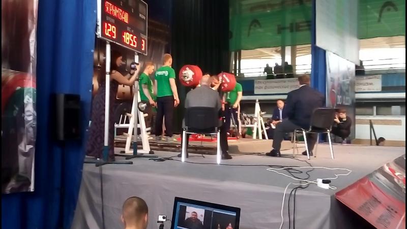 не удачная попытка присед 485.5 кг Евгений Ярымбаш