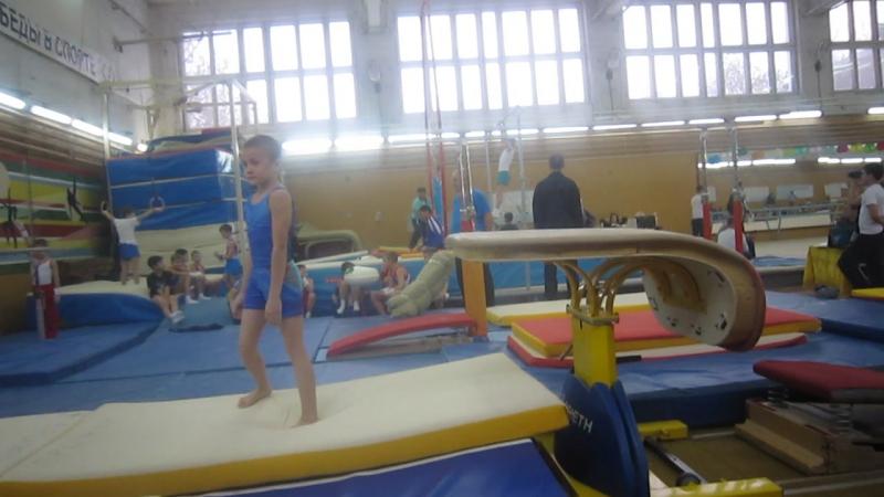 Первые соревнования по гимнастике в Смоленске.Женя. Малаховка.
