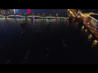 Saint Petersburg night -- DJI Phantom 4