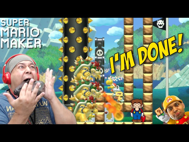 I'M SO F %KING DONE WITH THESE LEVELS SUPER MARIO MAKER 45