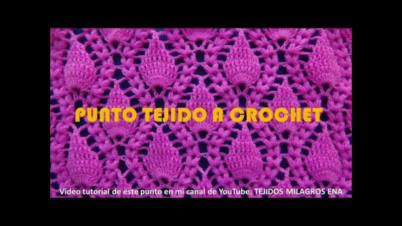 Punto Crochet 18 Hojitas en relieve con Espigas para cobijas y colchitas de Bebe