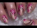 Vintage Rosen Nageldesign einfach selber malen mit Nagellack / Rose Flower Nail Art