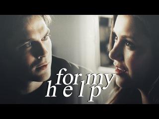 For My Help    Damon/Elena