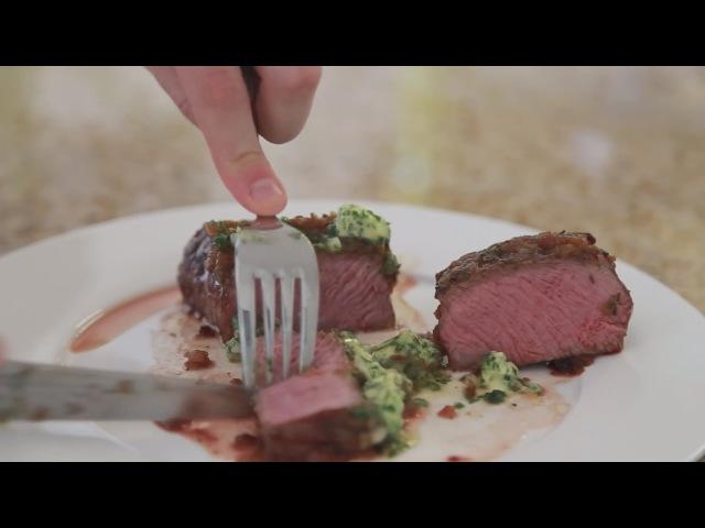 Вкуснейший стейк с прожаркой медиум. Рецепт американской кухни
