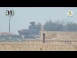 Сирия  Попадание ПТУР в Т 90
