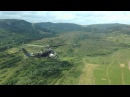 Mi-24 Hind helicopters shoot rockets from pilot view perspective