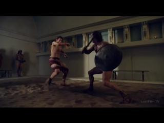 Спартак. Война проклятых-Красс против Гилария в схватке на смерть и гибель Фурия и Кассиния