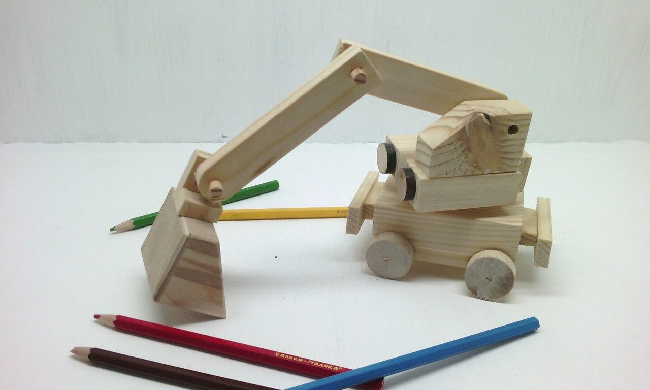 Деревянная «Строительная Машинка-Экскаватор» (Арт-9)