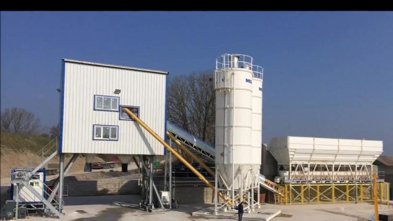 Монтаж бетонного завода MEKAMIX-60 в графстве Сомерсет (Англия)