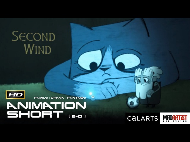2D Animated Short Film SECOND WIND Cute Inspirational Animation by Ian Worrel / CalArts