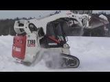 Компактный погрузчик Bobcat T190 легко справляется со снежными заносами