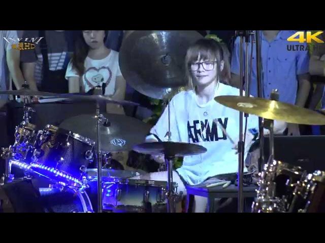 4K畫質 羅小白 爵士鼓 Fantastic Baby(4K 2160p)@凱旋夜市爵士鼓表演[無限HD] 🏆