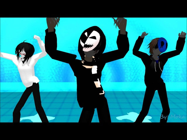 MMD Gentleman Kagekao, Jeff the killer and Eyeless Jack