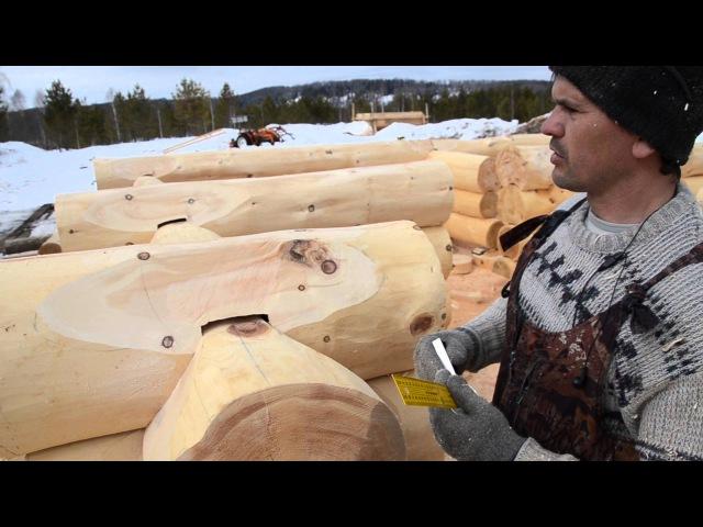 Баня из кедра, как делается канадская чашка без поднутрения ! часть 37.