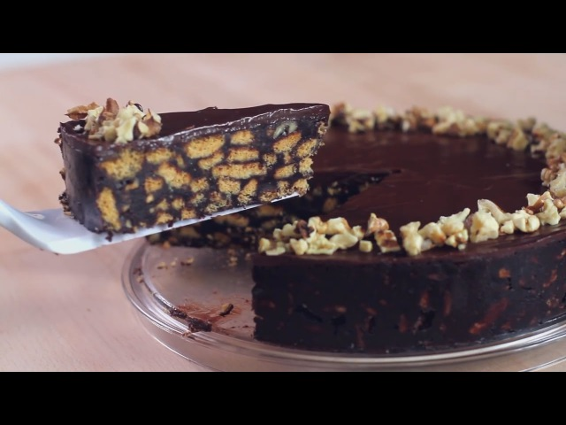 Шоколадный торт из печенья без выпечки. Дома вкусно и просто.